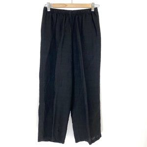 Eileen Fisher Black Pull On Stretch Pants Petite